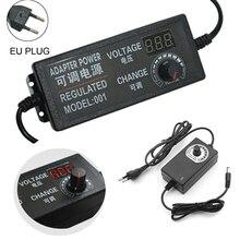 adjustable ac to dc 3v 12v 3v 24v 9v 24v universal adapter with display screen voltage regulated power supply adatpor 3v 12v 24v AC100-240V DC 3V-12V 3V-24V 9V-24V Adjustable Universal Power Supply Adapter Voltage Regulator Power Adapter for LED Light Strip