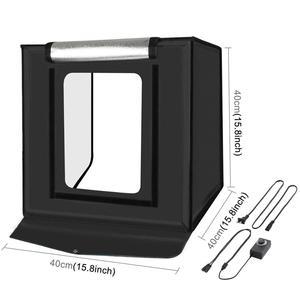 Image 2 - PULUZ 40*40cm 16inc Mini Photo Studio Box Lightbox Photograghy Softbox Led Photo Lighting Studio Shooting Tent Box Kit Light box