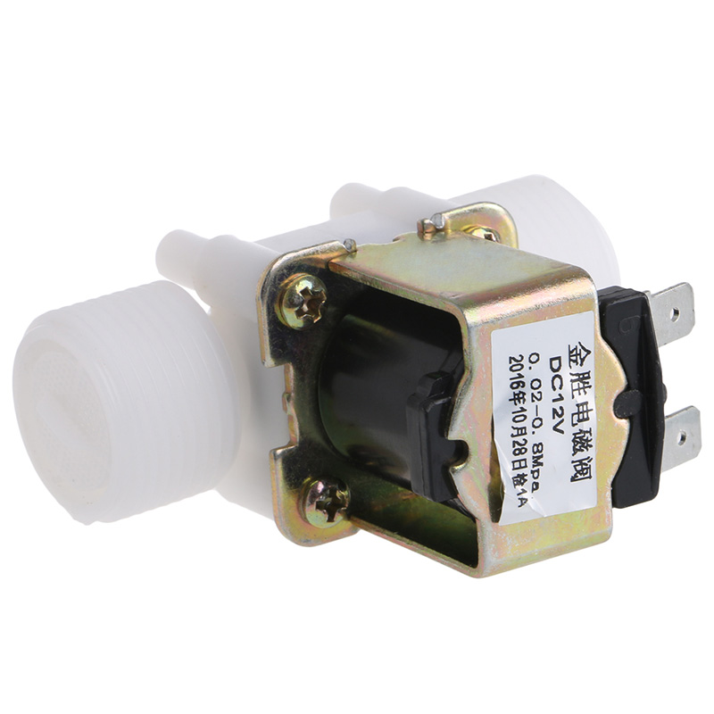 "3/4"" Plastic Solenoid Valve 12V 24V 220V PP N/C Magnetic Washing Machine Dispenser  Water Pneumatic Pressure Controller Switch 6"