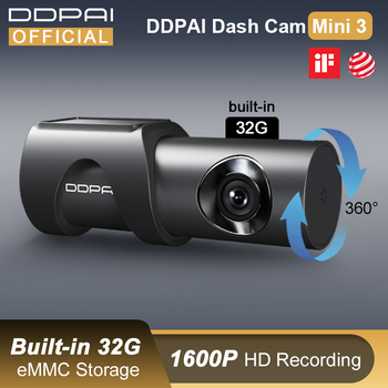 DDPAI Dash Cam Mini 3 1600P HD Dvr Car Camera Mini3 Auto Drive Vehicle Video Recroder 2K Android Wifi Smart 24H Parking Camera