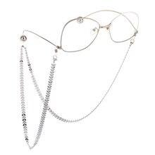 Fashion Metal Sequins Glasses Punk Chain Eyeglasses Chains Reading Eyewears