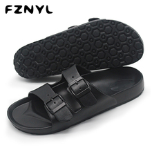 FZNYL Men Sandals 2019 Summer Beach Outdoor Casual Shoes Male Black Indoor Slippers Flip Flops Footwear Big Size Sandalias uexia new big size 36 45 men summer shoes beach lovers unisex flip flops mens slippers lighted sandalias outdoor chanclas hombre