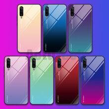 For Xiaomi Redmi Note 5 6 Pro 6A 7 Case Gradient Tempered Glass Cover For Xiaomi Mi 8 A2 Lite A1 9SE Mi6 Mi9 Pocophone F1 Case yimaoc the godfather fashion glass case for xiaomi redmi 4x 6a note 5 6 7 pro mi 8 9 lite a1 a2 f1