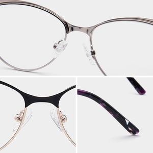 Image 4 - Retro Cat Eye Optical Myopia Glasses Frame Women Progressive Prescription Eyeglasses Frame Clear Degree Eyewear Frame Spectacles