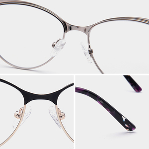 Image 4 - Retro olho de gato óptica miopia óculos quadro mulher prescrição progressiva óculos quadro claro grau óculos quadro
