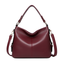 High Quality Genuine Leather Large-capacity handbags strong women briefcase Fashion Wristlets for lady Cowhide Totes