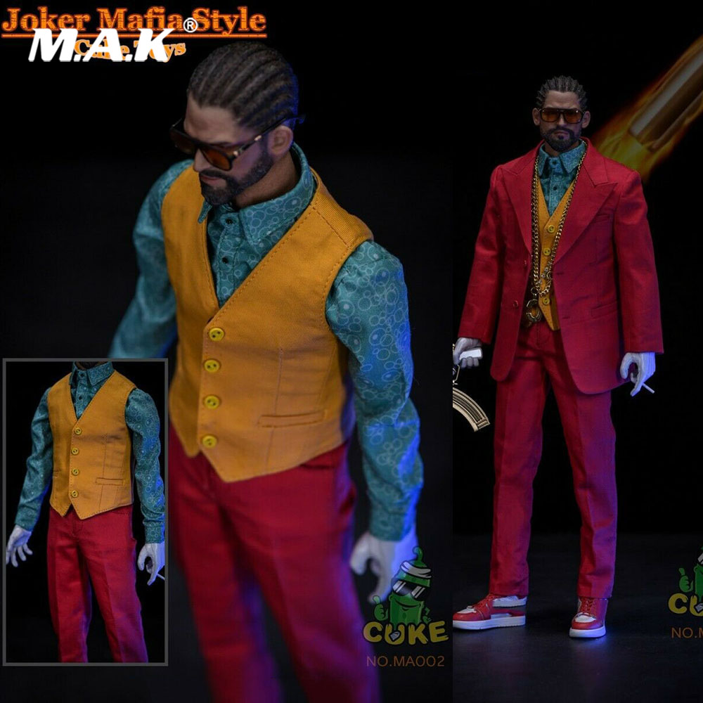 CUKE TOYS MA-002 1/6 Scale Soldier Figure Clothes Accessory Clown Joker Mafia Style Red Version For 12'' Action Figure