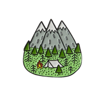 Adventure enamel pins Mountain Forest Outdoorsy badge brooch Lapel pin Denim Jeans shirt bag Explore Nature jewelry Gift for kid