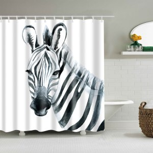 Image 5 - Dafield sunset shower curtain african animals  elephant black shadow bathroom shower curtains waterproof fabric