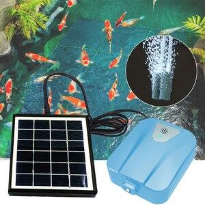 Bomba de aire para acuario con energía Solar/CC, Mini bomba de aire para tanque de peces, compresor de aire para oxígeno, aireador, fabricante de flujo de aire 2L/min #2