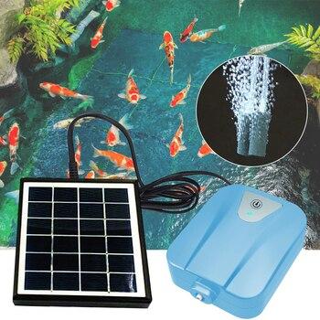 Solar Powered/DC Charging Water Mini Aquarium Air Pump Plant Fish Tank Oxygen Air Compressor Aerator Air Flow Maker 2L/min #2 918 usb powered mini aquarium fish tank white transparent