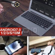 цена на 3 in 1 7mm Inspection Mobile Phones Endoscope Handheld Endoscope Metal Plastic Photos Computers Ear Spoon Borescope Monitoring