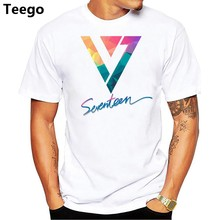 2018 SEVENTEEN K-POP Style T-Shirt O-Neck Short Sleeve Tees Brand Clothing Summer Hip Hop t shirt(China)