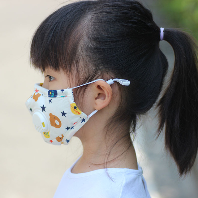 Filter Mask Carbon Insert Reusable Mask For Kids Children Child Filter Breathable Face Fabric Cotton Mask With Filters Pm2.5 1