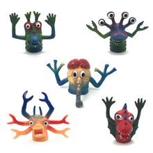 5pcs/Lot Little Monster Finger Puppets PVC Mini Ghost Head Zombie Telling Story Puppets Hand Toys Party gifts