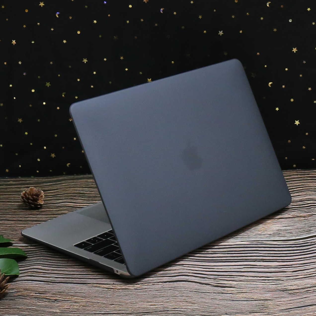 Crystal Matte etui na laptopa dla MacBook Air 13 Pro 16 11 Pro 15 12 cal przypadku Touch Bar matowe pokrycie A1706 A2141 A1932 A2159 A2179