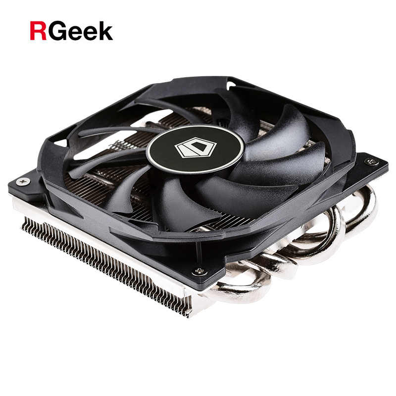 4PIN CPU cooler ITX Ultra-sottile 30 millimetri 115X4 heatpipe di raffreddamento 9 centimetri fan di supporto Intel AMD