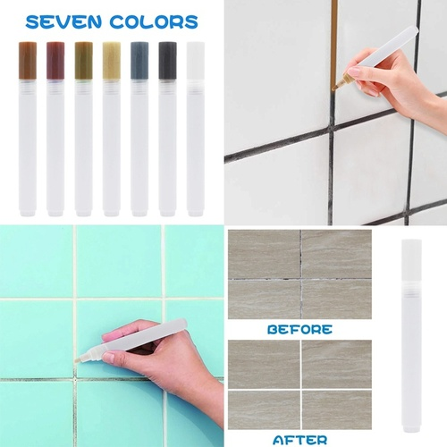 Ceramic Floor Tile Crevice Whitening Pen Wall Color Repair Paint Pen (7 Colors)