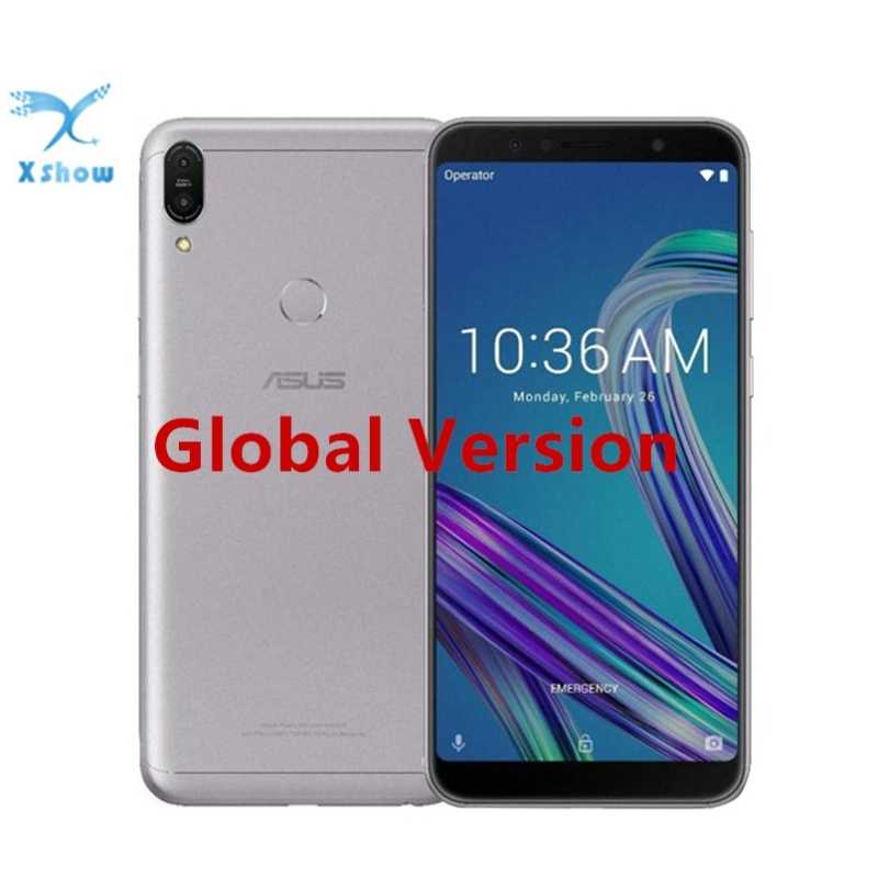 "Versão global asus zenfone max pro m1 zb602kl 3/4 gb 32/64 gb 6 ""18:9 snapdragon 636 android 8.1 16mp 4g lte face id samrtphone"