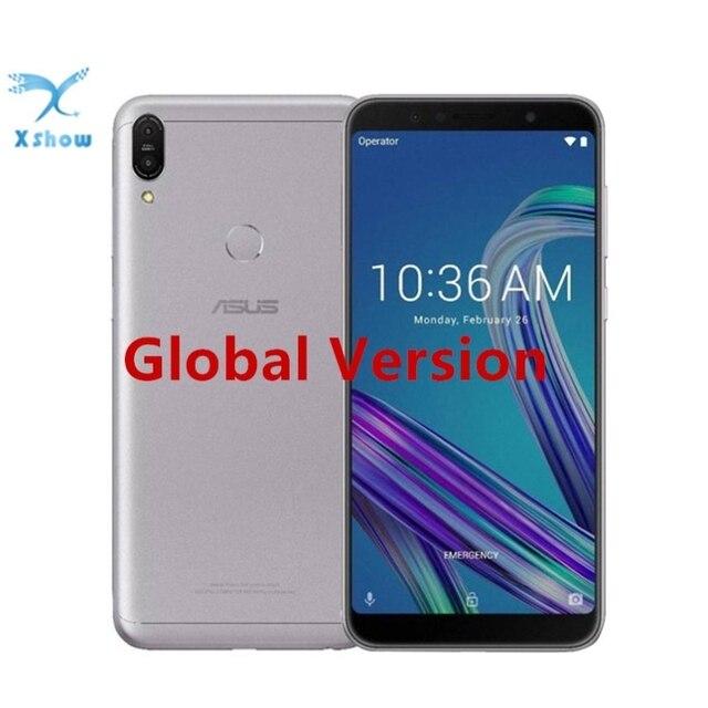"Wersja globalna ASUS ZenFone Max Pro M1 ZB602KL 3/4GB 32/64GB 6 ""18:9 Snapdragon 636 Android 8.1 16MP 4G LTE face id Samrtphone"