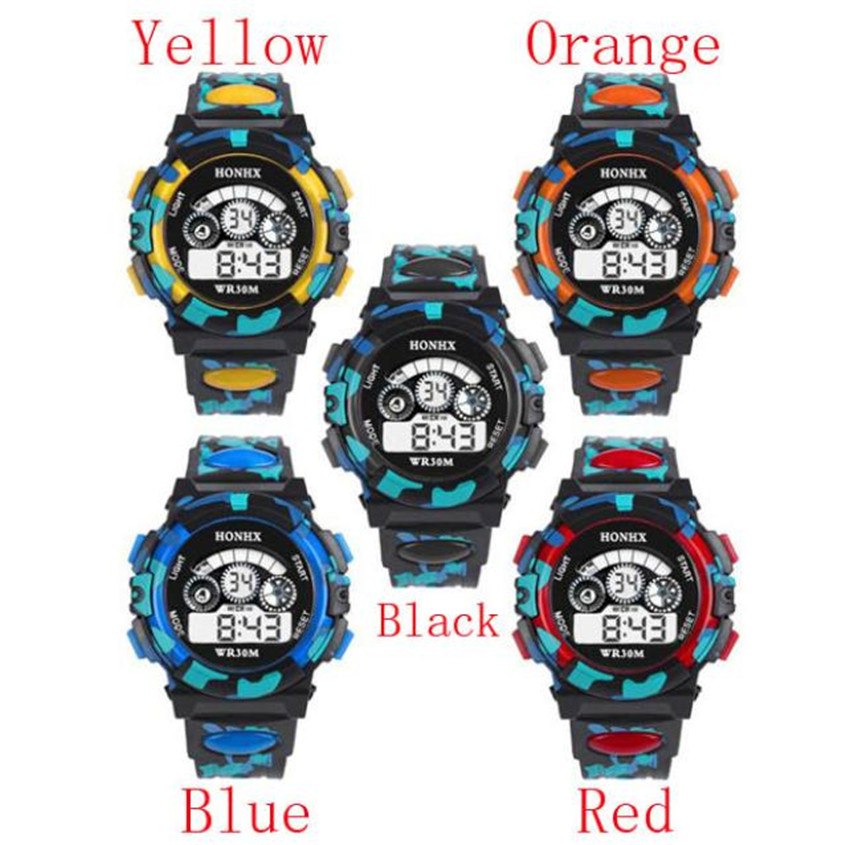 OTOKY2019 New Outdoor Children Boys Girls LED Watch Multifunction Waterproof Sports Electronic Watches Dropshiping 6