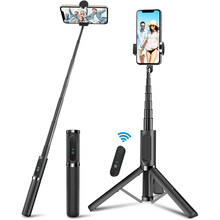 All in One Aluminum Selfie Stick Detachable Phone Tripod with Wireless Remote