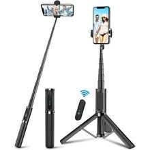 Alle In Een Aluminium Selfie Stok Afneembare Telefoon Statief Met Draadloze Afstandsbediening