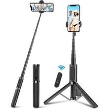 모두 하나의 알루미늄 Selfie 스틱 분리형 전화 삼각대와 무선 원격