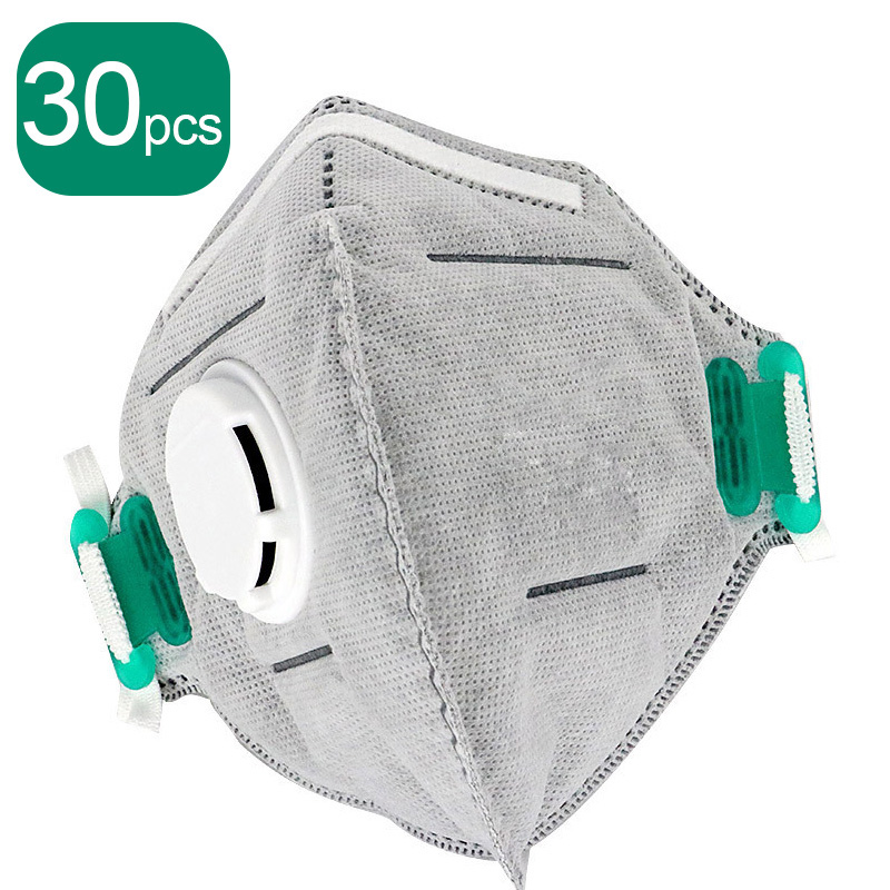 25pcs N95 Mask Anti Virus Dust Face Mask Nonwoven Valved Dust Mask N95 PM 2.5 Respirator Mouth Mask With Valve Same As Ffp3