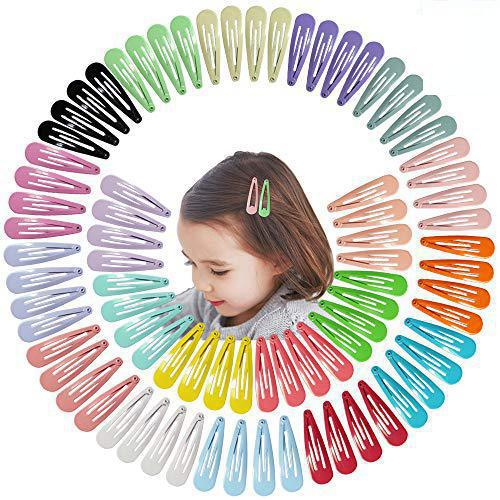 5cm mezcla de Color sólido de Metal Hairgrip niñas broche de pelo Clips para niños bebé accesorios para el cabello mujeres Barrettes Clip Pins BCC05