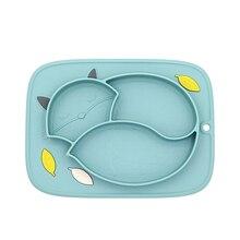 feeding food plates Baby suction plate kids Silicone tray va