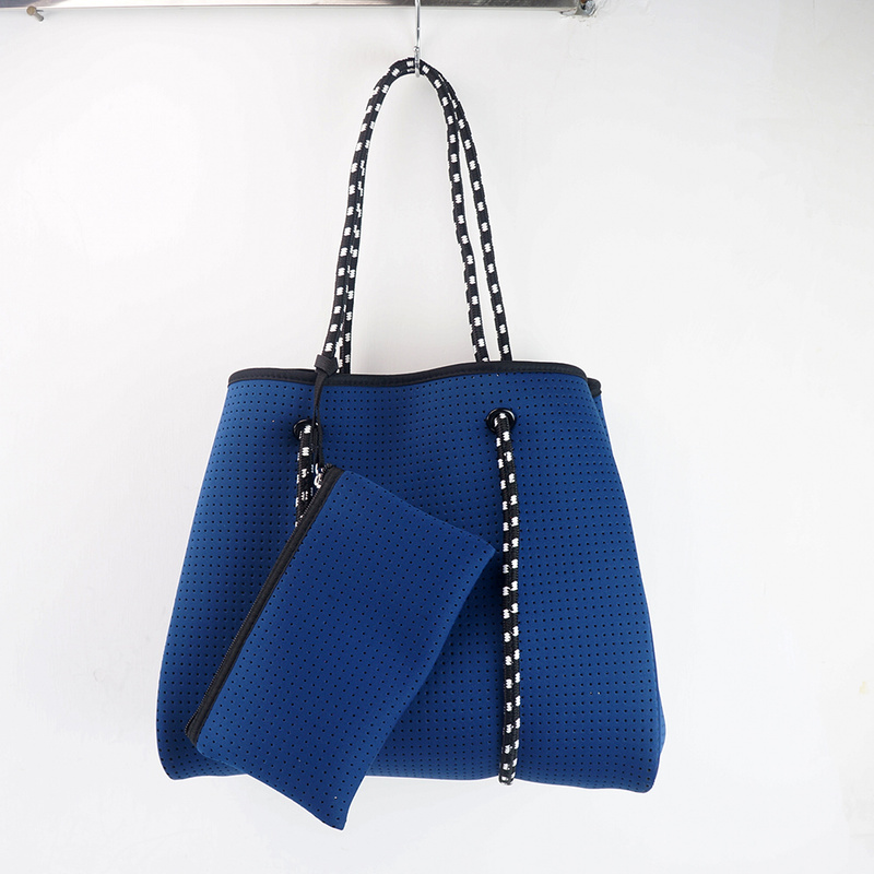 Пляжная сумка-тоут и сумка из неопрена, хит продаж, перфорированная неопреновая сумка, пляжная сумка, сумки для женщин