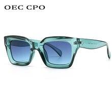 Lunettes de soleil carrées colorées pour femmes et hommes, nouvelle marque Design Vintage pour femmes, uniques à dessus plat, nuances UV400
