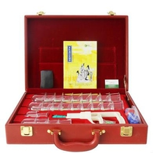 Boutique gift boxes cupping apparatus household vacuum thickening type C 24 cupping cans (red suitcase) extraction