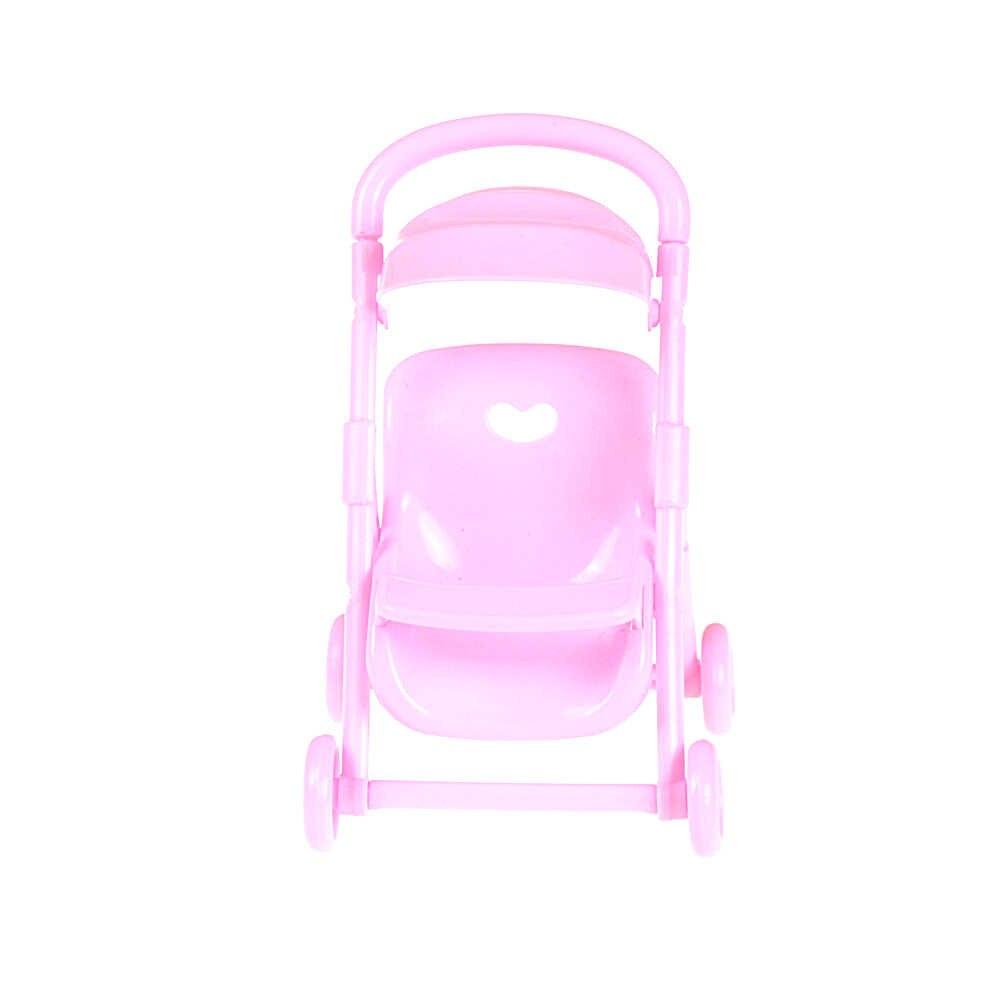Wózek spacerowy dla lalki wózek zabawkowy zabawka do pokoju dziecięcego dla lalek meble dla dziewczynek prezenty różowy wózek dziecięcy niemowlę dzieci