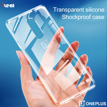 Luxury Transparent Phone Case For Oneplus 7 6T Pro Shockproof Silicone TPU Cover For Oneplus 7T 6 Pro Full Cover Soft Back Cases