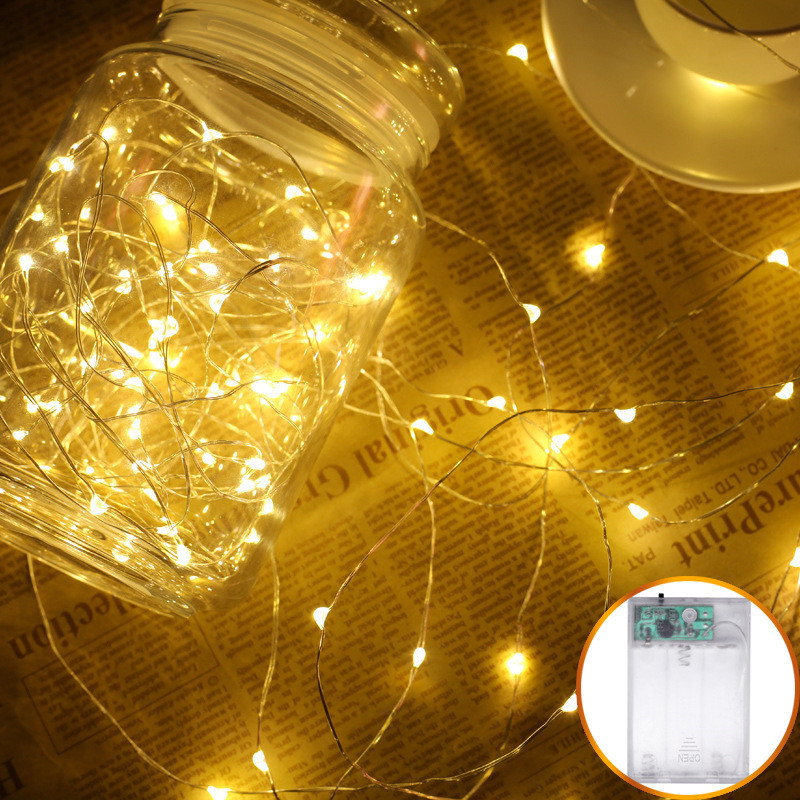 Wedding Decoration For Home Copper Wire Battery Box Valentine's Day Decoration Garland Fairy String Light For Party Decoration