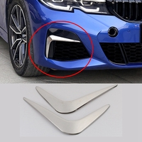 For BMW 3 Series G20 2020 Front Fog Light Lamp Decoration Cover Trim Frame Sticker Exterior Accessories Car Styling