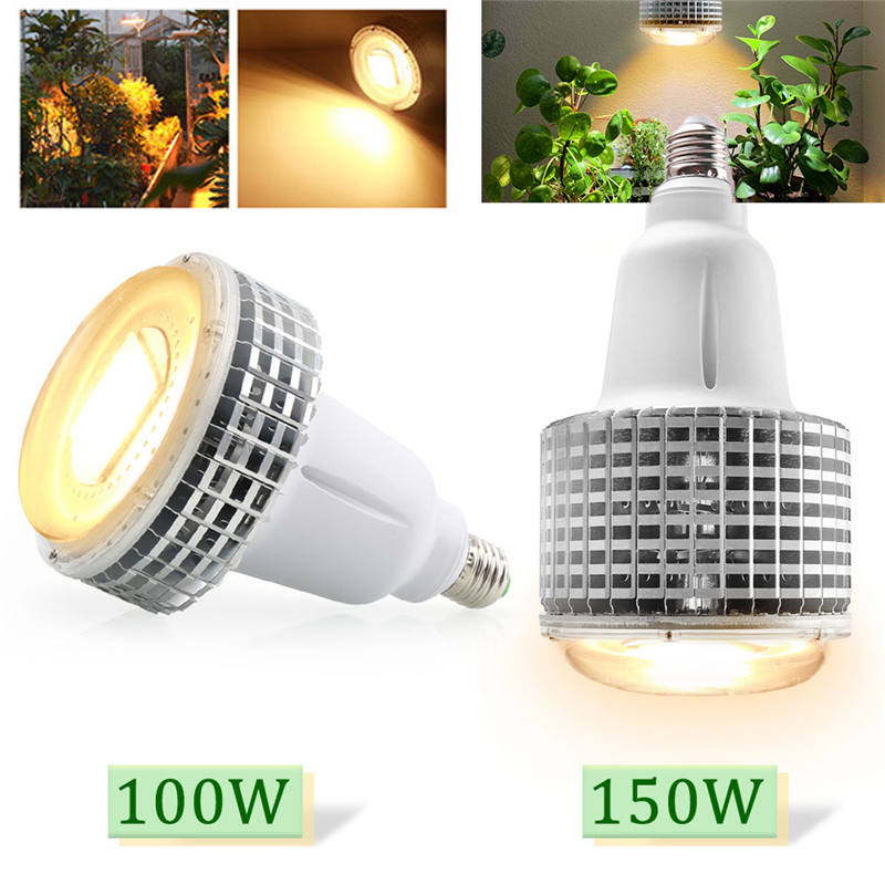 100W 150W LED Grow Light COB High Power Chip Warm White E27 Growth Bulb Phytolamp For Indoor Plants Greenhouse Hydroponics Tent