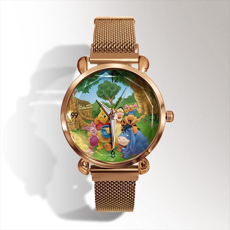 reloj mujer New Fashion 3D Cartoon Bear Quartz Watch Mesh Band +Dress Children Watch Magnet Buckle Women Watch Gift +% D1% 87% D0% B0% D1% 81 % D1% 8B