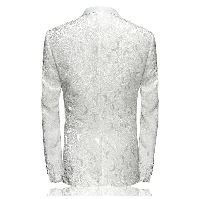 2020 New Fashion Mens Floral Suit Jacket Casual Long Sleeve Party Blazer Slim Fit Single Button Blazer Jacket Plus Size M-4XL