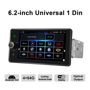 Image 4 - Android 10.0 Car Radio 6.2 inch GPS Navigation 4GB RAM+64GB ROM head unit stereo universal autoradio video player support 4G/BT