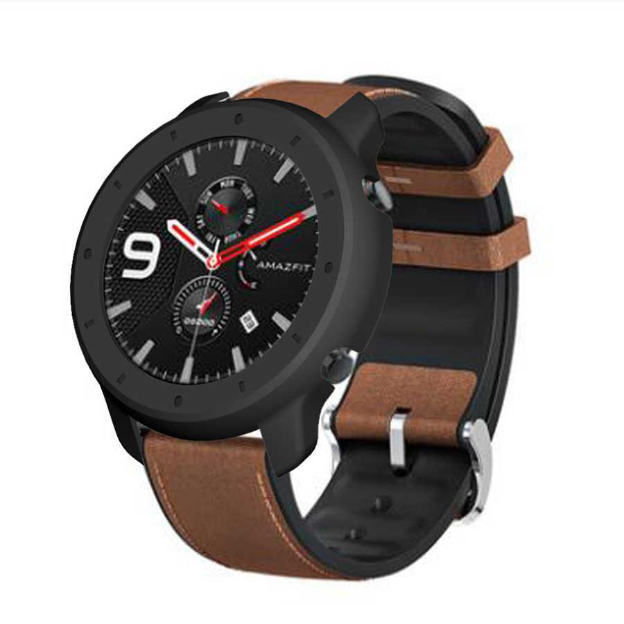 Silm étui rigide pour Amazfit GTR 47mm housse de montre cadre de protection pare-chocs pour Xiaomi Huami Amazfit GTR coque de protection de montre