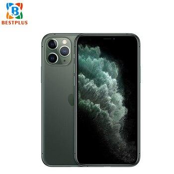 Перейти на Алиэкспресс и купить Абсолютно Новый Apple iphone 11 pro max A2220 мобильный телефон 6,5 дюйм4 Гб ОЗУ 64 Гб ПЗУ гекса coreTriple камера заднего вида двойная SIM смартфон