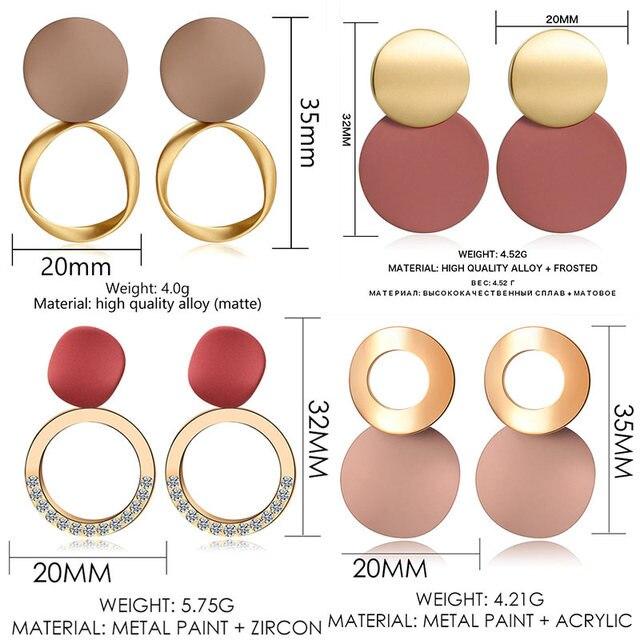 Women's Earrings  Acrylic Drop Earrings  Statement Geometric 3