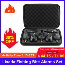 Lixada Memancing Gigitan Alarm Set 2/3/4/6 Wireless Digital Memancing Receiver Suara Peringatan Kit Alarm Led Indikator dengan Case(China)