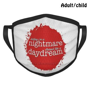 Darling I'M A Nightmare Custom Design Face Mask For Adult Kids Anti Dust Fandom Music Swifties Lyrics Nightmare Daydream Pop image
