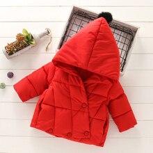 Childrens Jacket Hoodies Windbreaker Winter Coat Girls Boy Fashion Cotton for Thick-Down