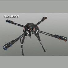 Tarô original tl65b01, kit de quadro quadricóptero, de fibra de carbono, 650 dobrável, 3k cnc