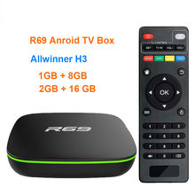 R69 Tv Box Android 7.1 Allwinner H3 Quad-Core 1G8G 2G16G 2.4Ghz Wifi 1080P Hd Thuis Smart media Speler Set-Top Box(China)